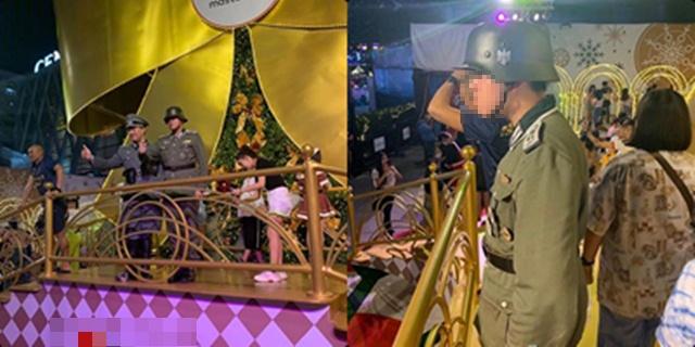 ห้างดังแจง ไม่มีส่วนรู้เห็น หนุ่มแต่งเครื่องแบบทหารนาซีถ่ายรูปงานคริสต์มาส