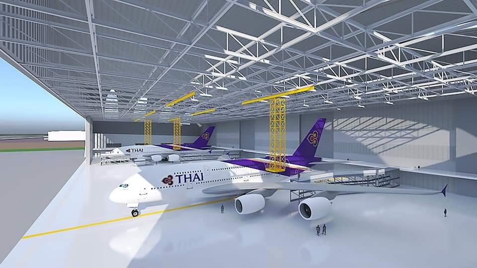 """การบินไทย ดันศูนย์ซ่อมอู่ตะเภา เร่งเจรจา เซ็น""""แอร์บัส"""" ใน ส.ค.63"""