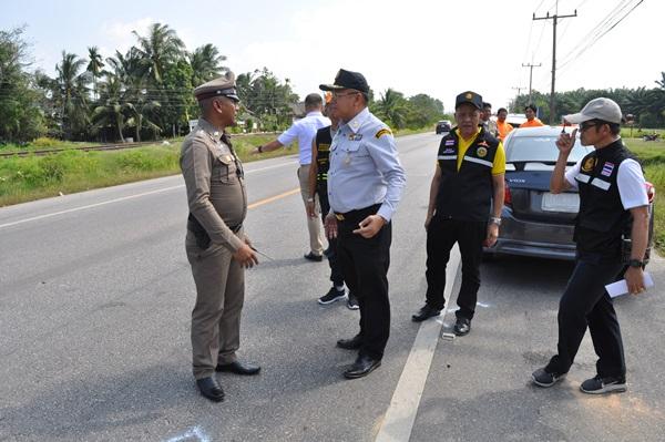 ผู้ว่าฯ สุราษฎร์ สั่งปรับแผนแก้ปัญหาเกิดอุบัติซ้ำ ในจุดเสี่ยง
