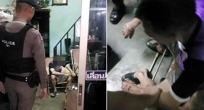 ตำรวจ 191 เข้าช่วยเหลือชายสูงวัยคลุ้มคลั่งใช้มีดทำร้ายตัวเอง