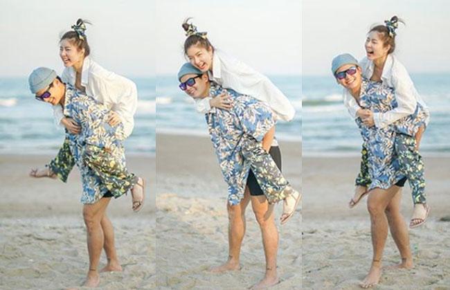 """หวานฉ่ำรับต้นปี """"ฮั่น"""" เกี่ยวก้อย """"จียอน"""" เที่ยวทะเล บอกจะเป็นรักแท้ของเธอ"""