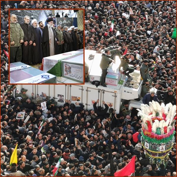 "In Pics :ภาพสุดขนหัวลุก!อิหร่านร่วมใจอาลัย ""สุไลมานี"" แน่นสุดลูกหูลูกตา - ฮิซบอลเลาะห์ประกาศชัด กองกำลังสหรัฐฯต้องนอนโลงกลับบ้าน"