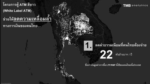 """ทีเอ็มบี เผย """"ATM กระจุก คนไทยจ่ายค่าธรรมเนียมกระจาย"""