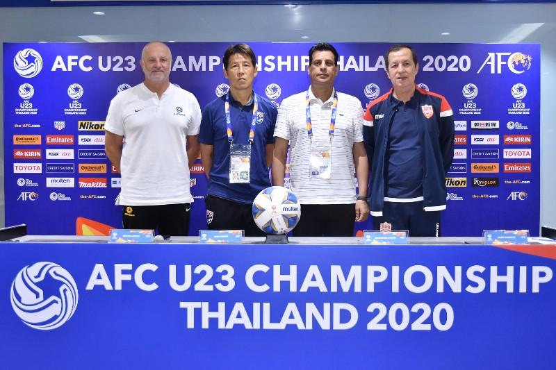 """4 ทีมร่วมโต๊ะแถลง U23 """"นิชิโนะ"""" ลั่น พา """"ช้างศึก"""" ลุยโอลิมปิกที่บ้านเกิด"""