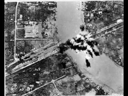 ภาพจากเครื่องบินเมื่อทิ้งระเบิด