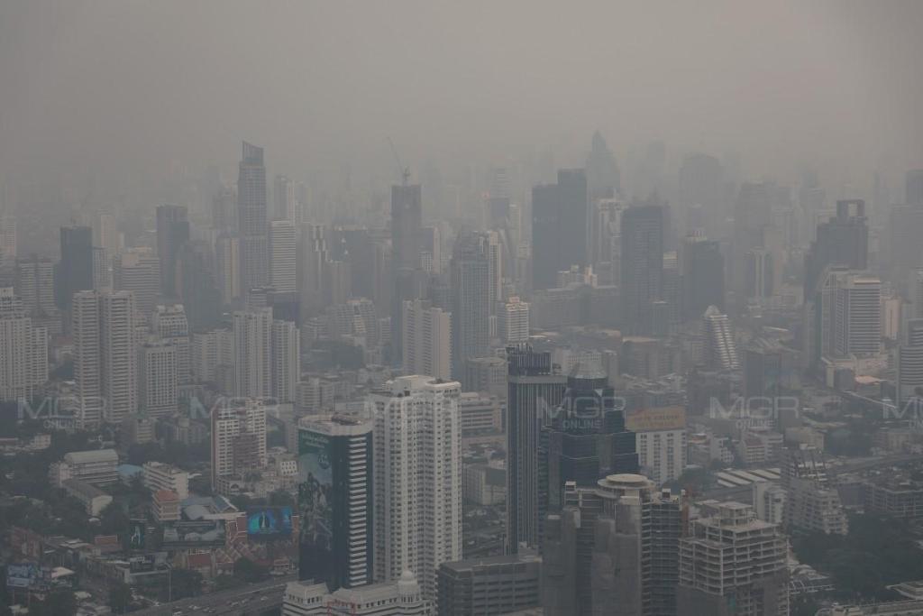 PM 2.5 สุดรุนแรง! ค่าฝุ่นละอองเกินมาตรฐาน 48 จุด พื้นที่สีแดง 6 แห่ง มีผลกระทบต่อสุขภาพ เขตภาษีเจริญพุ่งเกินร้อย