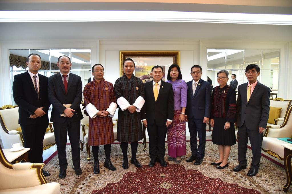 """""""วีรศักดิ์""""ถกภูฏาน เร่งขยายการค้าระหว่างกัน พร้อมเดินหน้าร่วมมือเศรษฐกิจ"""