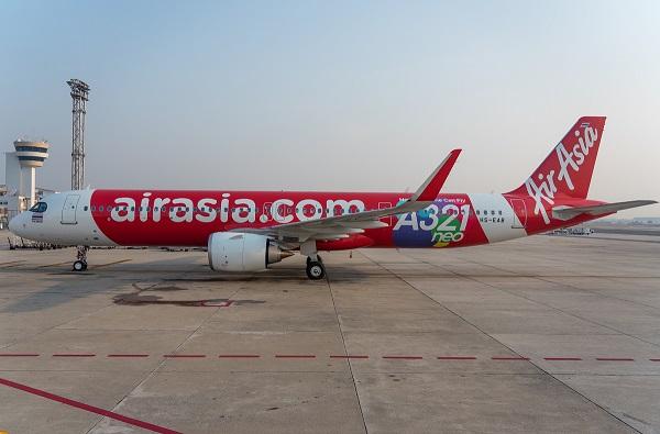 """เครื่องรุ่นใหม่!""""แอร์เอเชีย""""ใช้ แอร์บัส A321neo ลำแรก ประเดิมบินเส้นทาง ในปท.แล้ว"""