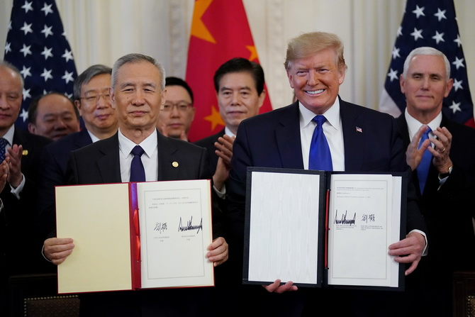 เป็นทางการ!!สหรัฐฯ-จีนลงนามข้อตกลงการค้า'เฟส1' เชื่อช่วยส่งเสริมเศรษฐกิจโลก
