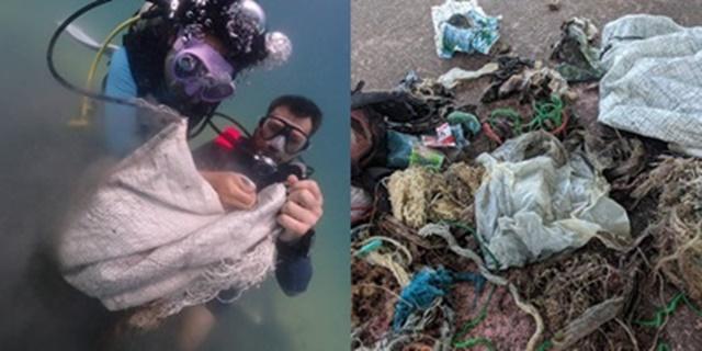ทช.จับมือกับกลุ่มอาสาสมัครนักดำน้ำ ร่วมเก็บขยะใต้ทะเลยังพบขยะพลาสติกจำนวนมาก