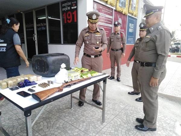 ตำรวจลำหิน รวบแก๊งค้ายาเสพติดหนองจอก