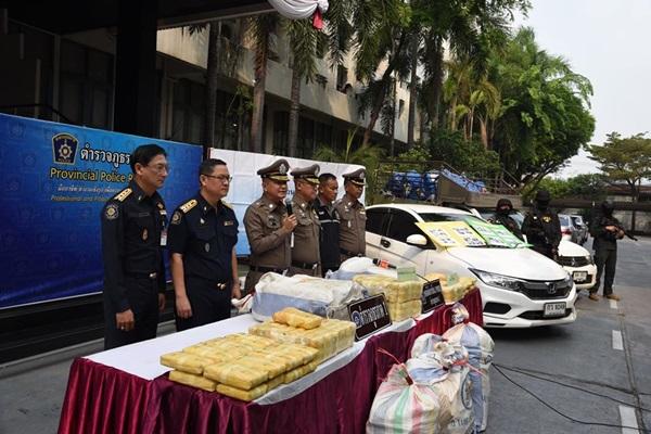 ตำรวจภาค 1 จับ 4 ผู้ต้องหารับจ้างขนยาบ้ากว่า 2 ล้านเม็ด