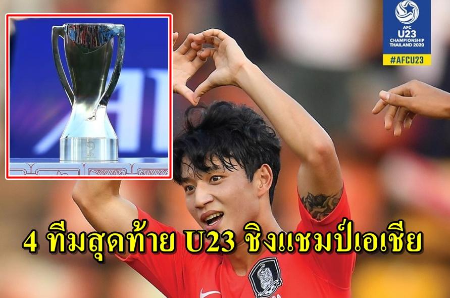 ได้แล้ว 4 ทีมลุ้นแชมป์U23 ชิงแชมป์เอเชีย