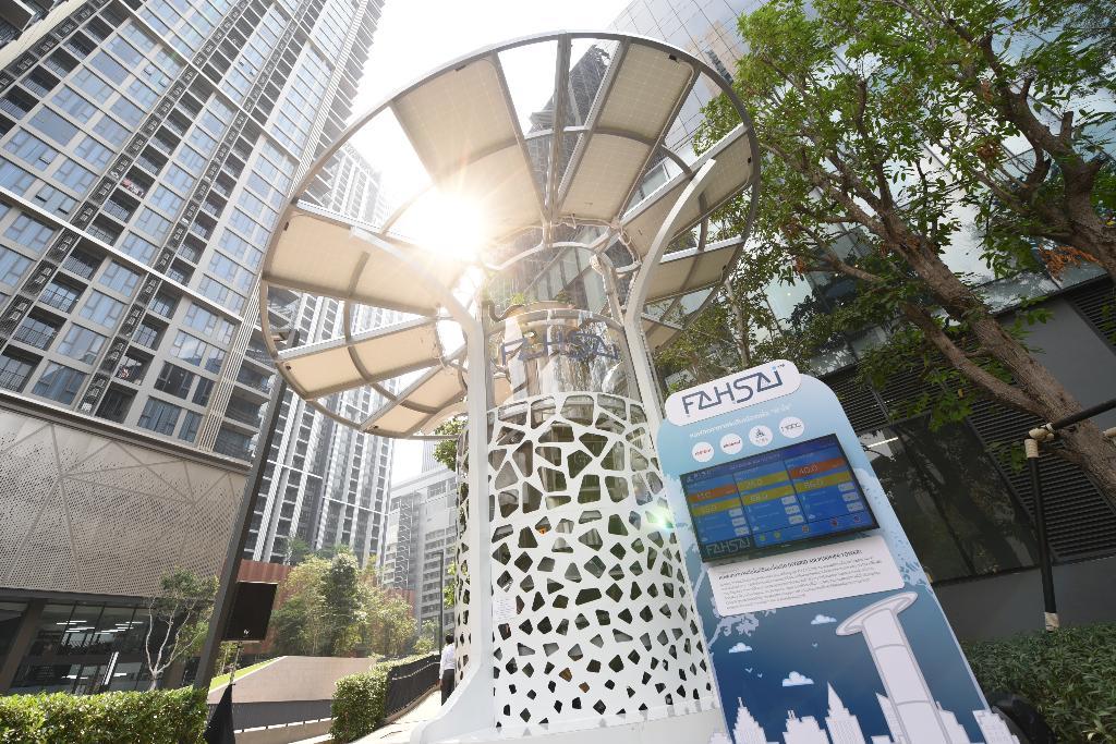 "MQDCเปิดตัวต้นแบบ หอฟอกอากาศระดับเมือง ""ฟ้าใส"" ตอกย้ำแนวคิด 'for all well-being'"