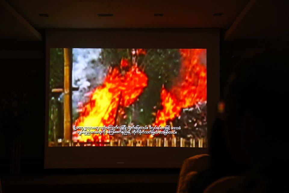 """ประชาคมไทใหญ่ตั้งจอฉายหนัง""""THE FOUR CUTS : ปีมหานรก"""" ก่อนศาลโลกชี้ขาดคดีล้างเผ่าพันธุ์โรฮิงญา"""