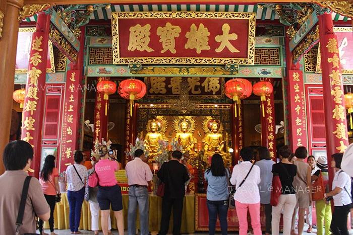 การไหว้พระ-เทพเจ้า เสริมสิริมงคลช่วงตรุษจีนที่วัดเล่งเน่ยยี่