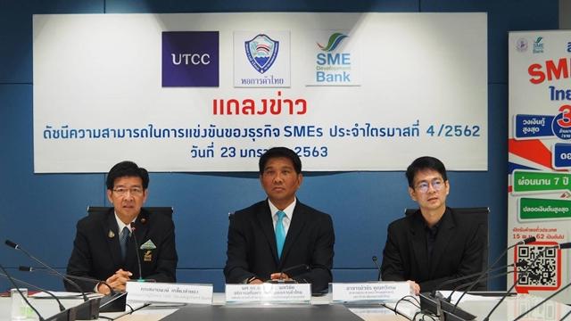 ดัชนี SMEs ไตรมาส 4/62 ลดลงทุกด้าน คาดไตรมาสแรกของปีนี้จะปรับตัวดีขึ้น