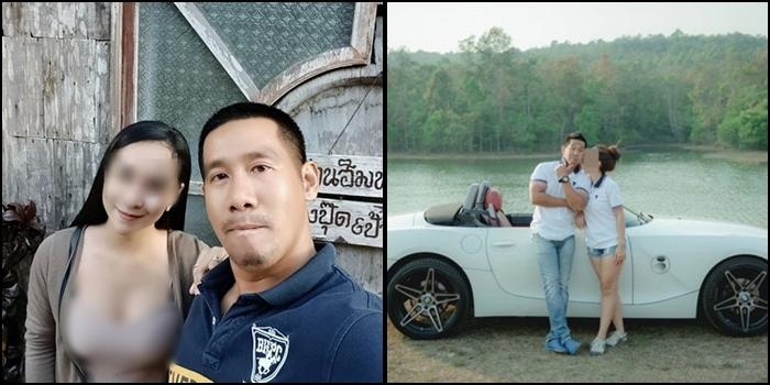 ภาพจากเฟซบุ๊กนายประสิทธิชัย ผู้ต้องหา ซึ่งถ่ายกับภรรยา สะท้อนชีวิตติดหรู
