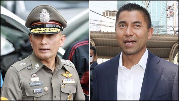 (ซ้าย) พล.ต.อ.วิระชัย ทรงเมตตา รอง ผบ.ตร. (ขวา) พล.ต.ท.สุรเชษฐ์ หักพาล ที่ปรึกษาพิเศษประจำสำนักนายกรัฐมนตรี
