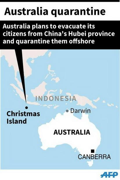 ออสเตรเลียงัดแผนสู้ไวรัสโคโรนา ใช้เกาะห่างไกลกักกันพลเมืองที่กลับจากอู่ฮั่น