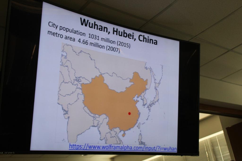 เมืองอู่ฮั่นในแผนที่ และจำนวนประชากร