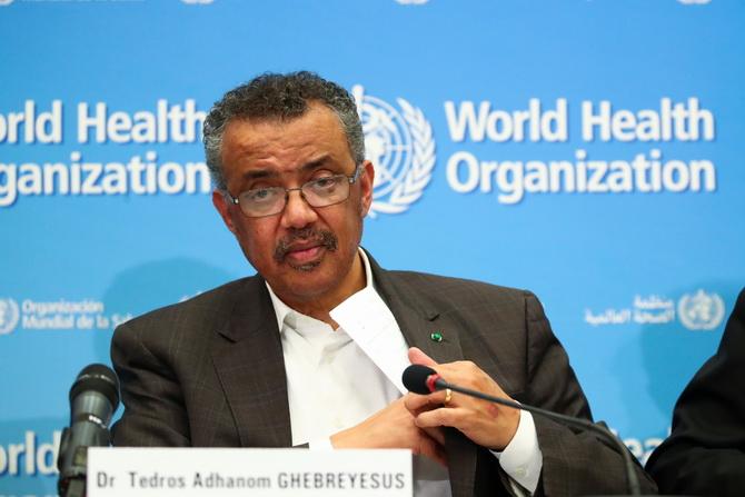 เทดรอส อาดานอม เกเบรเยซัส ผู้อำนวยการใหญ่องค์การอนามัยโลก (WHO)
