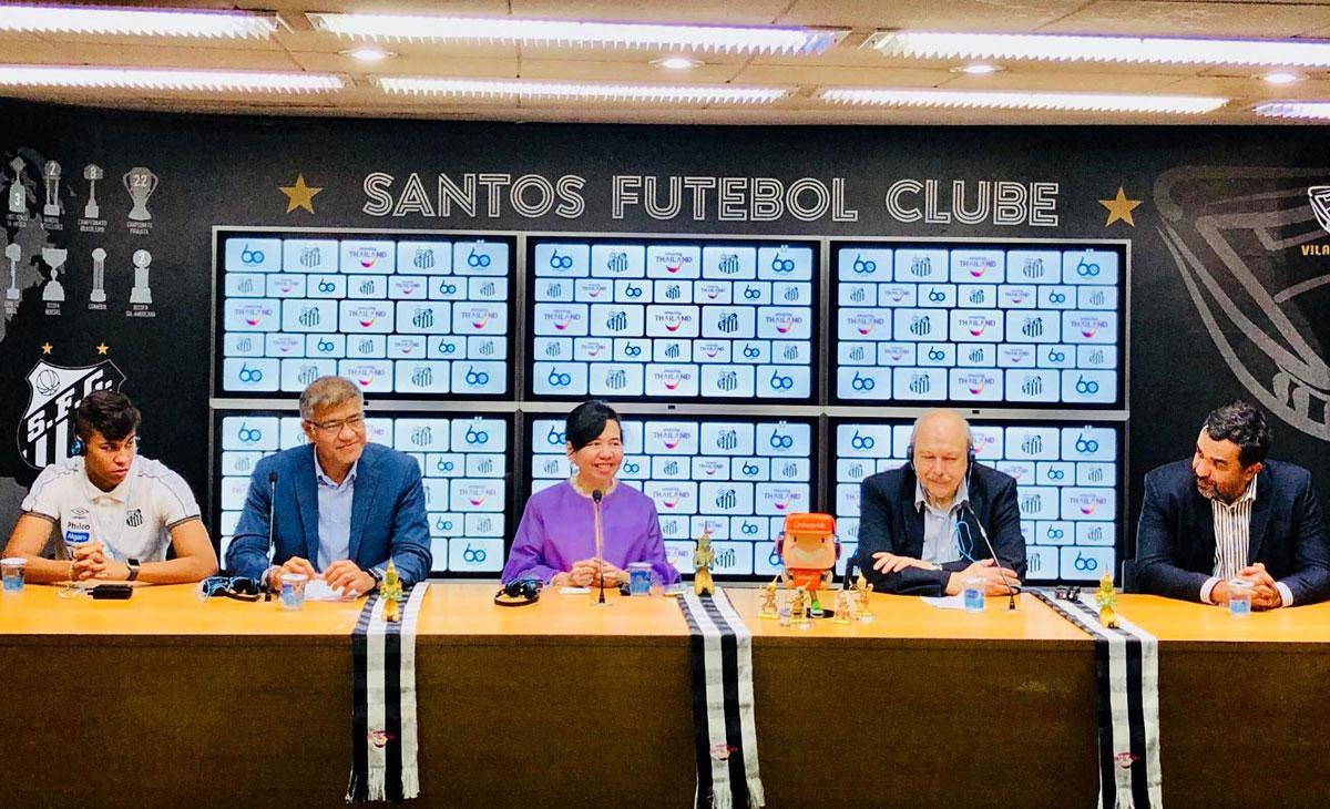 """ททท.รุกตลาดบราซิล ร่วมสปอนเซอร์ทีมฟุตบอลดัง""""ซานโตส"""""""