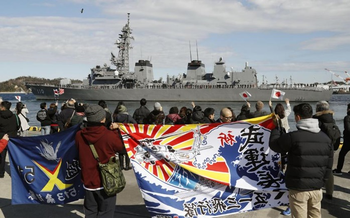 In Clip: เรือรบพิฆาตญี่ปุ่นออกเดินทางจากโตเกียว มุ่งหน้าคุ้มกันเส้นทางเดินเรือบรรทุกในน้ำมันอ่าวโอมาน