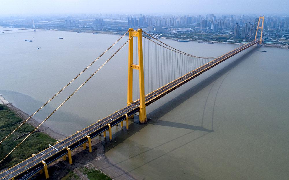 สะพานข้ามแม่น้ำแยงซีหยางซื่อก่าง (ภาพ : ซินหัว)