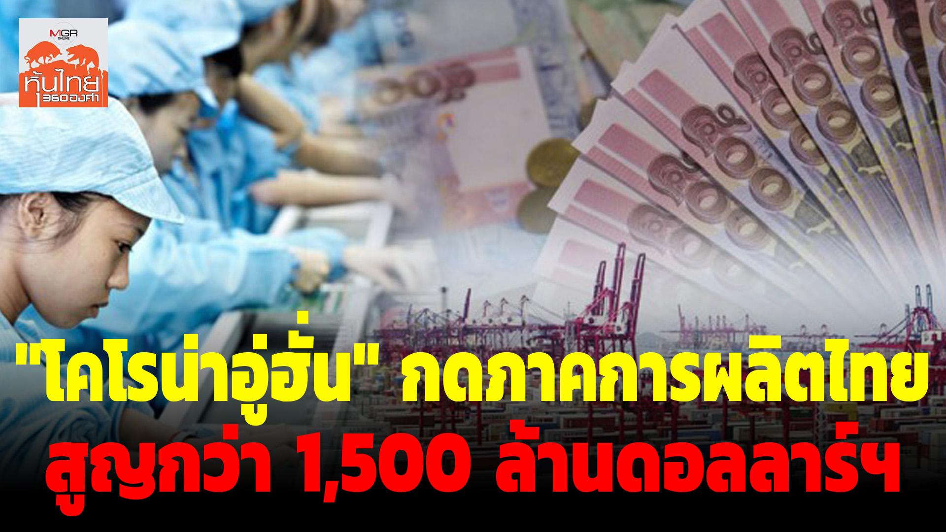 "K-Research คาด ""วิกฤตไวรัสโคโรน่าอู่ฮั่น"" กระทบภาคการผลิตไทยสูญกว่า 1,500 ล้านดอลลาร์ฯ"