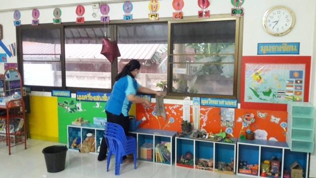 กสร.ฝากศูนย์เด็กเล็กฯ Big cleaning ป้องกันไวรัสโคโรนา