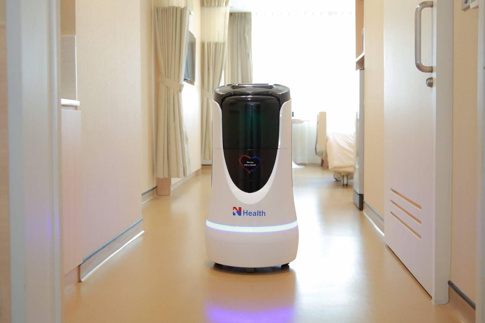 """""""เฮลท์ตี้บอท"""" หุ่นยนต์ขนส่ง ช่วยลดความเสี่ยงต่อการติดเชื้อ"""