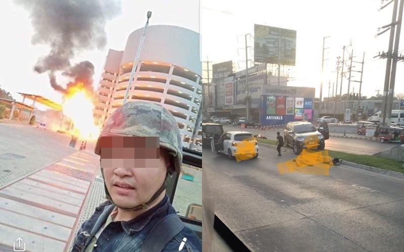 """พลทหารคลั่ง! กราดยิงโดน """"ผบ.พัน"""" เสียชีวิต 2 คน กลางเมืองโคราช ชาวบ้านบาดเจ็บเพียบ"""