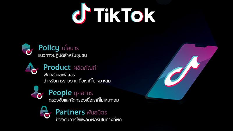TikTok ยกระดับความปลอดภัยบนแพลตฟอร์ม ผ่านแนวทาง 4Ps