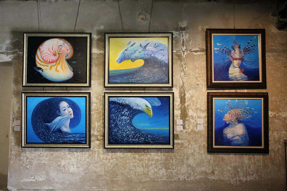 Art Exhibition Yuyuan art and antique ศิลปินอันดามัน อารีย์ คงพล