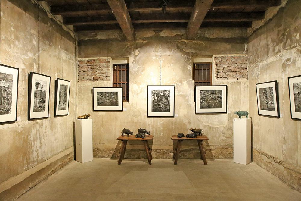 Art Exhibition Yuyuan art and antique ศิลปินอันดามัน มณเฑียร ยางทอง