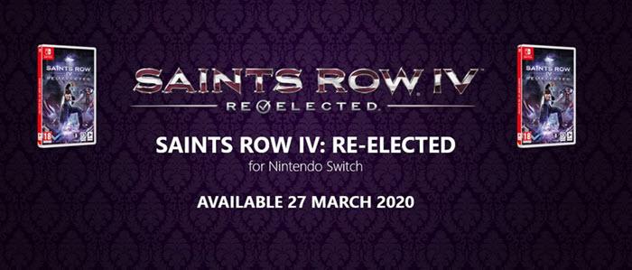 """กาวแบบพกพา! """"Saints Row IV"""" เตรียมวางจำหน่ายบนสวิตช์ 27 มี.ค.นี้"""