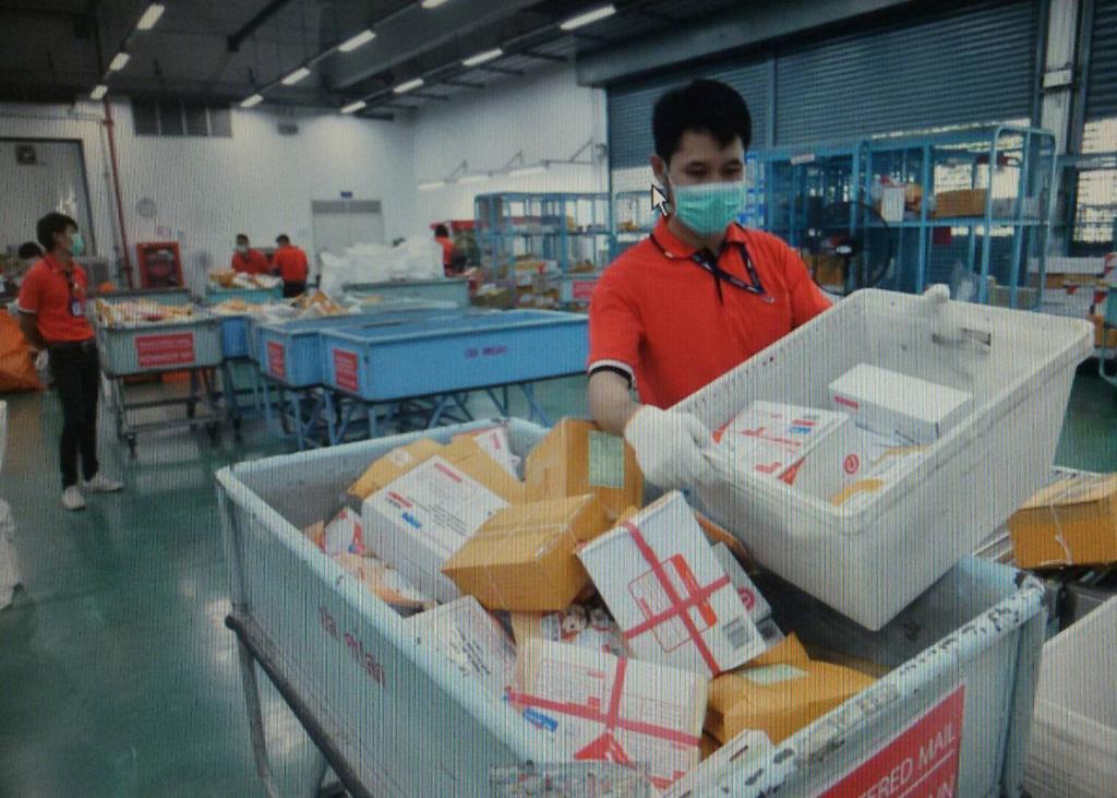 ไปรษณีย์ไทย ฆ่าเชื้อโรคสิ่งของขาเข้าจากตปท. ป้องกันCovid-19