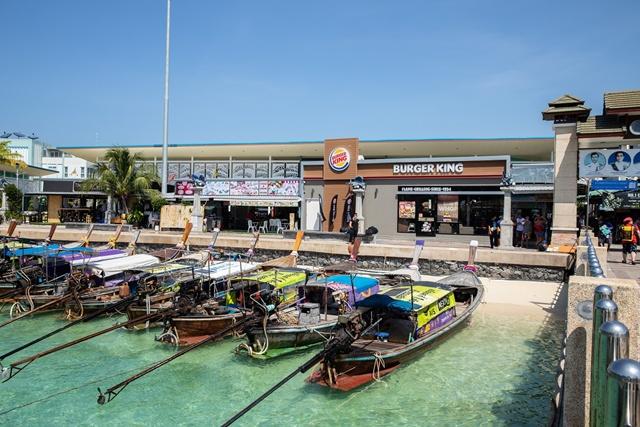 หน้าร้านเบอร์เกอร์คิงสาขาเกาะพีพี