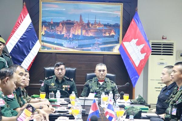 ทหารไทย-กัมพูชา  ร่วมแก้ปัญหาแนวชายแดน- ป้องกันไวรัสโควิด 19