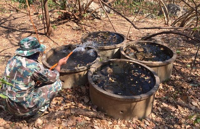 ชื่นชม จนท. เขตห้ามล่าสัตว์ป่าเขาสมโภชน์ จ.ลพบุรี เติมน้ำช่วยสัตว์ป่า ในช่วงหน้าแล้ง