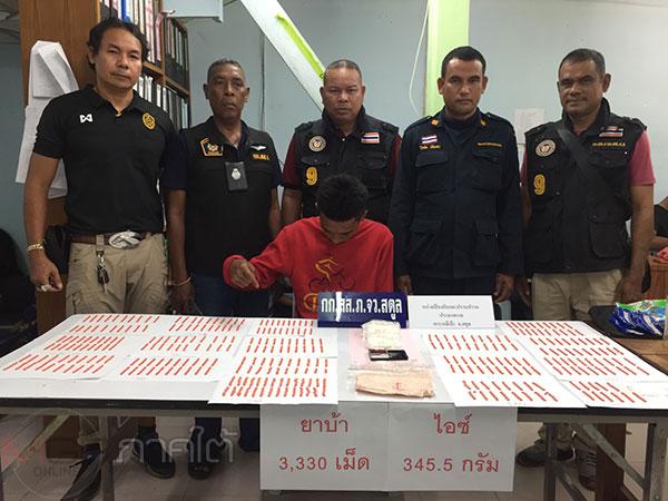 ตำรวจสตูลซุ่มจับเรือขนยาเสพติด ผู้ต้องหาตกใจกระโดดน้ำหนี 2 ราย รวบได้ 1 ราย