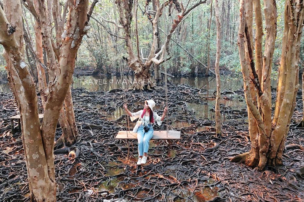นั่งชิงช้ากลางป่าตะบูน