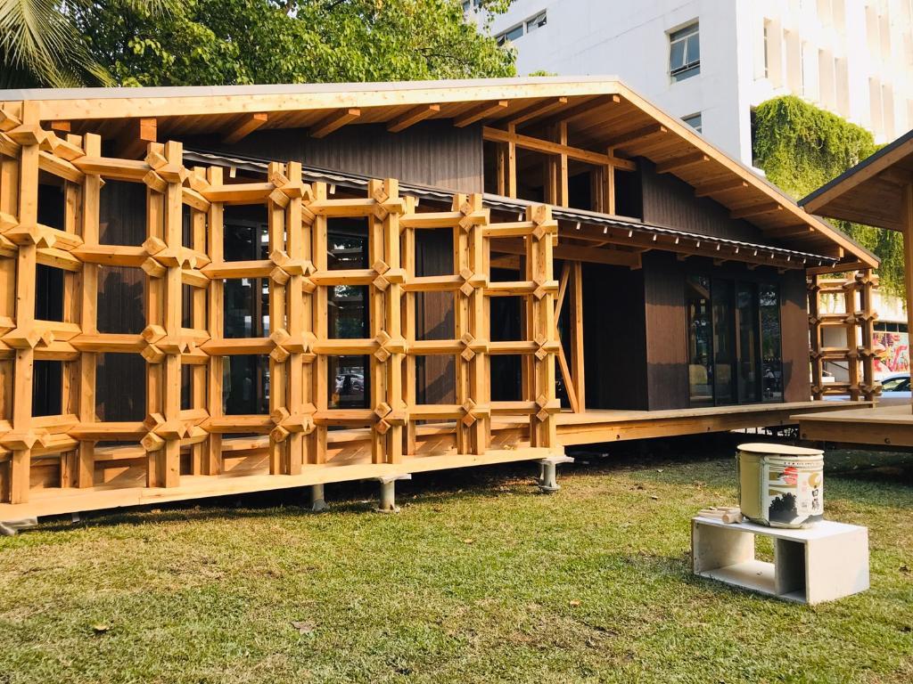 เปิดตัว 'เรือนไม้ประหยัดพลังงาน' ใช้สถาปัตยกรรมไม้แบบญี่ปุ่น