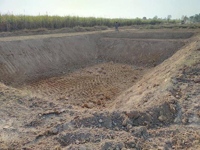 เตรียมขุดบ่อน้ำที่อยู่ใหม่ ในจังหวัดราชบุรี