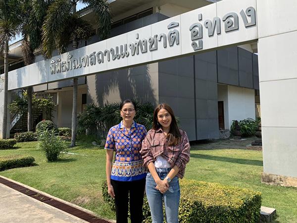 """จัดว่าเด็ด! """"น้ำหวาน"""" สักการะพระพุทธรูปแกะสลักบนหน้าผาหิน หนึ่งเดียวในเมืองไทย อันซีนสุพรรณบุรี"""