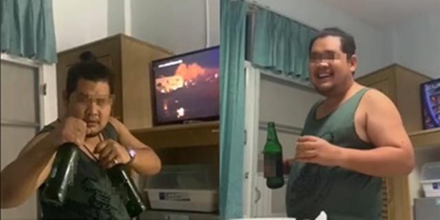 วิจารณ์สนั่น! สาวโพสต์คลิปเพื่อนมาเยี่ยมไข้ หิ้วเบียร์ 2 ขวด ดื่มในห้องผู้ป่วยหน้าตาเฉย