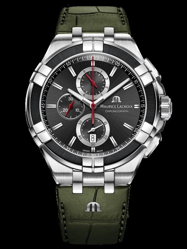 'ไอคอน ควอตซ์' (AIKON Quartz) ออกแบบด้วยเหล็กกล้าสีเทา PVD สีดำ และสายรัดสีเขียว รุ่นใหม่ 2 แบบ 1 สไตล์ ได้แก่ นาฬิการุ่น 3 เข็ม และรุ่นโครโนกราฟ ในชุดสีดำ เทา และเขียว ที่มาพร้อมหน้าปัดย่อยจับเวลา ในตำแหน่ง 6-9-12 นาฬิกา โดยทั้งคู่ใช้กลไกการเคลื่อนไหวของแร่ควอตซ์คุณภาพสูง สายหนังลูกวัวสีเขียวขี้ม้า และการเล่นสีของฝีเข็มแบบ Tone-On-Tone พร้อมกับระบบ Easy change ถอดเปลี่ยนสายนาฬิกาและลุคได้เร็วดังใจ