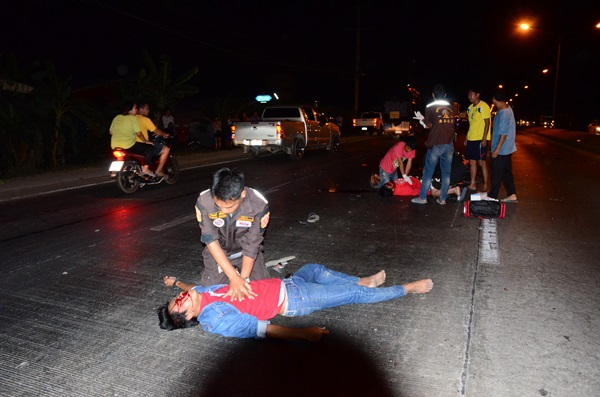 เผยนาที CPR ช่วยชีวิต 2 หนุ่มซิ่ง จยย.ไม่ทราบคู่กรณีหัวใจหยุดเต้นจนชีพจรกลับมา