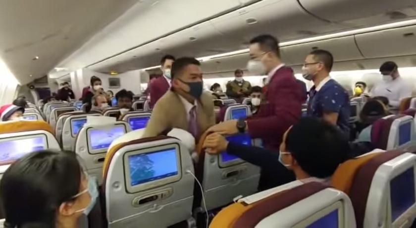 การบินไทยวุ่น! หญิงจีนโวยวาย-ไอ ใส่ลูกเรือ ไม่พอใจรอลงเครื่องที่เซี่ยงไฮ้นานกว่า 7 ชั่วโมง
